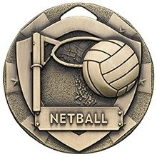 2inchMINI SHIELD MEDAL NETBALL BRONZE