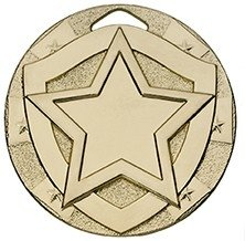 2inchMINI SHIELD MEDAL STAR GOLD