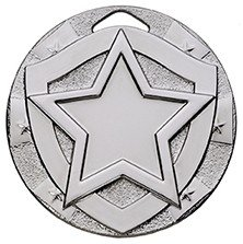2inchMINI SHIELD MEDAL STAR SILVER