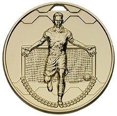 50mm FOOTBALL SCORER MALE GOLD