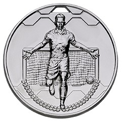50mm FOOTBALL SCORER MALE SILVER