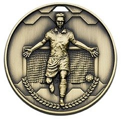 50mm FOOTBALL SCORER MALE  BRONZE
