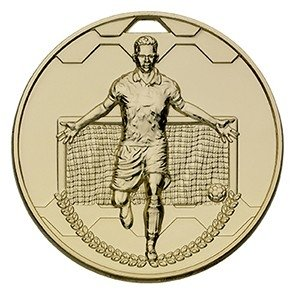 60mm FOOTBALL SCORER MALE GOLD