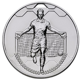 60mm FOOTBALL SCORER MALE SILVER