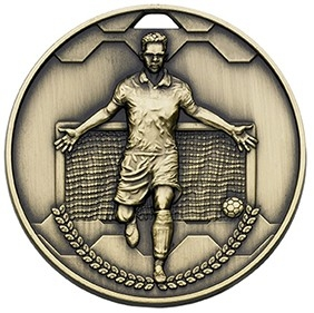 60mm FOOTBALL SCORER MALE BRONZE