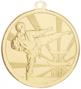 70MM GOLD MARTIAL ARTS MEDAL T/138