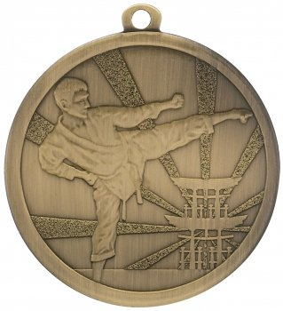 70MM BRONZE MARTIAL ARTS MEDAL T/138