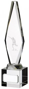 9inchGLASS FOOTBALL PLAYER AWARD