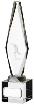 10inchGLASS FOOTBALL PLAYER AWARD