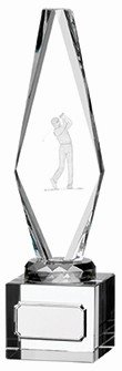 9inchGLASS GOLF MALE PLAYER AWARD