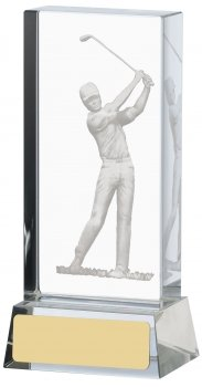 4.75inch GOLF ETCHED GLASS BLOCK
