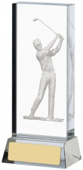 5.5inch GOLF ETCHED GLASS BLOCK