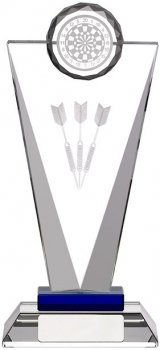 7.25inchGLASS DARTS AWARD
