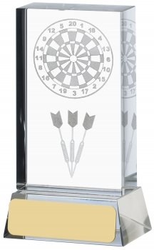 4.25inch DARTS LASERED GLASS BLOCK