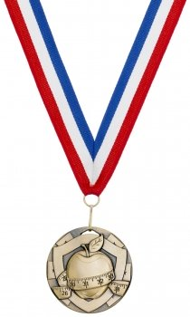 50mmSLIMMING MEDAL WITH RIBBON