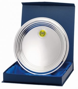 8inchNICKEL PLATED RIDGED TRAY