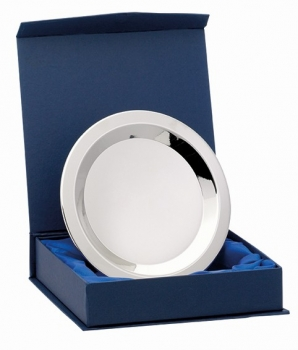 6.25inchNICKEL PLATED TRAY WITH BOX