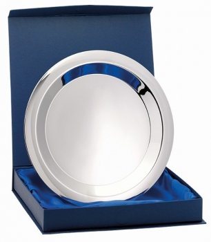 8inchNICKEL PLATED TRAY WITH BOX