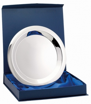 9.5inchNICKEL PLATED TRAY WITH BOX