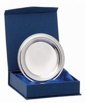 4inchNICKEL PLATED RIDGED TRAY WITH BOX