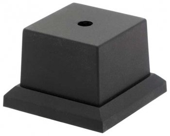 BLACK WEIGHTED BASE 2.75x2.75inch PACK 24