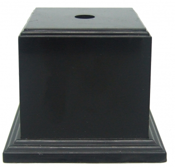 65mm SQ BLACK WEIGHTED BASE                25/case