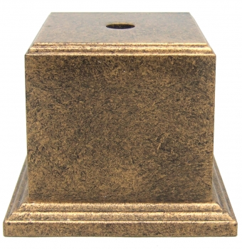 50mm SQ ANT GOLD WEIGHTED BASE                25/case