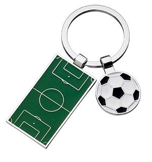FOOTBALL BALL & PITCH KEYCHAIN