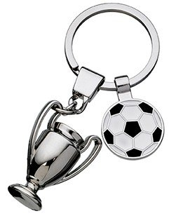 FOOTBALL + TROPHY KEYCHAIN