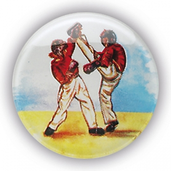 KICKBOXING PAIR 1inchDOMED CENTRE