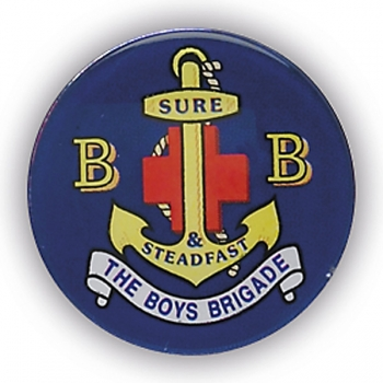 BOYS BRIGADE 1inchDOMED CENTRE