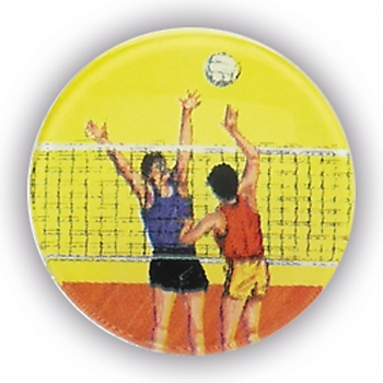 VOLLEYBALL 1inchDOMED CENTRE