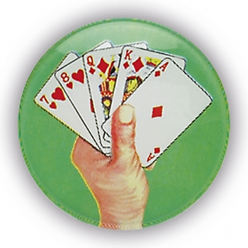 CARD HAND 1inchDOMED CENTRE