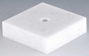 WHITE MARBLE 2.5x2.5x.75inch PACK 114