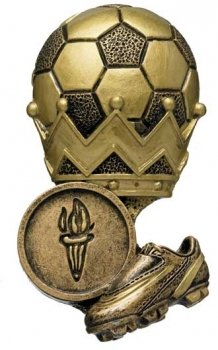 ANTIQUE GOLD SOCCER CROWN TRIM