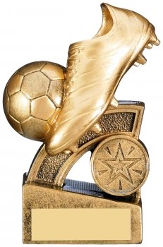 4.75inch GOLD HALO FOOTBALL TROPHY