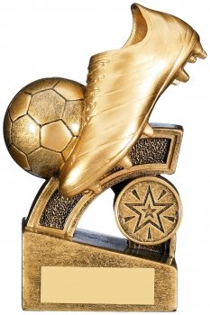 5.25inch GOLD HALO FOOTBALL TROPHY