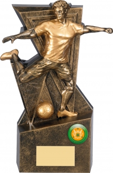 8.75inch GOLD LEGACY FOOTBALL TROPHY