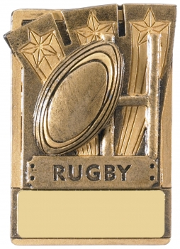 MINI MAGNETIC RUGBY TROPHY T/39/83    128/case    S112