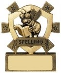 "3 1/8""SPELLING MINI SHIELD"