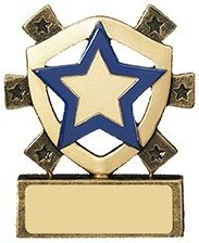 3 1/8inchBLUE STAR MINI SHIELD