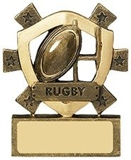 3 1/8inchRUGBY MINI SHIELD