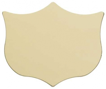 GOLD TRIM SHIELD 1.25inch