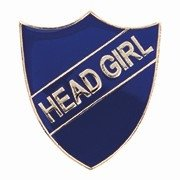 BLUE HEAD GIRL SHIELD BADGE