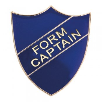 BLUE FORM CAPTAIN SHIELD BADGE