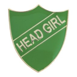 GREEN HEAD GIRL SHIELD BADGE