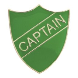 GREEN CAPTAIN SHIELD BADGE