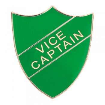 GREEN VICE CAPTAIN SHIELD BADGE