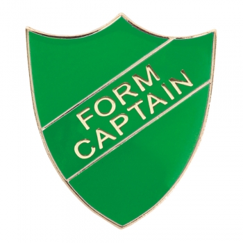 GREEN FORM CAPTAIN SHIELD BADGE