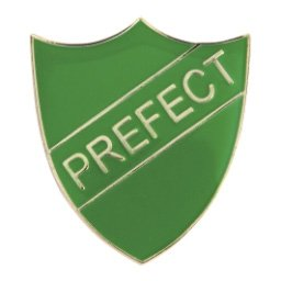 GREEN PREFECT SHIELD BADGE